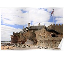 Clifftop Castle at Sidmouth Poster