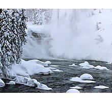 Firehole River falls Photographic Print