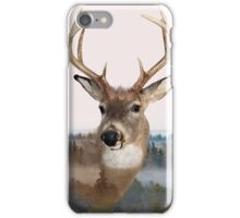 Whitetail Deer Double Exposure iPhone Case/Skin