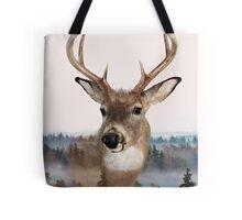 Whitetail Deer Double Exposure Tote Bag