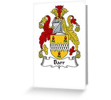 Coat of arms (family crest) for last-name or surname Barr . Heraldry banner for your name. Greeting Card