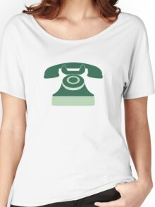 Mint Vintage Telephone Women's Relaxed Fit T-Shirt