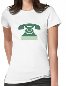 Mint Vintage Telephone Womens Fitted T-Shirt