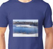 Baker's Falls in Winter Unisex T-Shirt