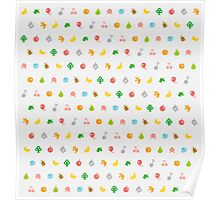 ANIMAL CROSSING HHD PATTERN Poster
