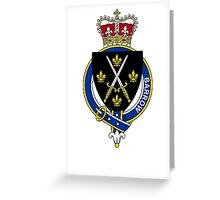 Coat of arms (family crest) for last-name or surname Barrow (England) . Heraldry banner for your name. Greeting Card