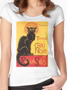 Le Chat Noir Vintage Poster Women's Fitted Scoop T-Shirt