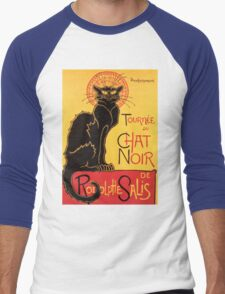 Le Chat Noir Vintage Poster Men's Baseball ¾ T-Shirt