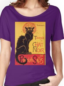 Le Chat Noir Vintage Poster Women's Relaxed Fit T-Shirt