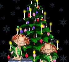 Christmas Fairies by LoneAngel