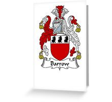 Coat of arms (family crest) for last-name or surname Barrow . Heraldry banner for your name. Greeting Card