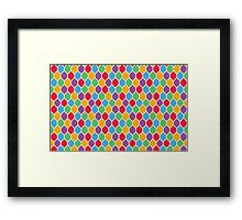 Retro Hexagons Framed Print