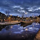 Coventry Canal Basin at Night #1 by Paul Woloschuk