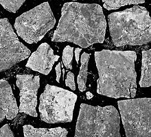 Cobblestone pavement by Gabor Pozsgai