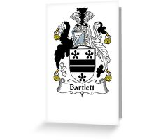 Coat of arms (family crest) for last-name or surname Bartlett . Heraldry banner for your name. Greeting Card