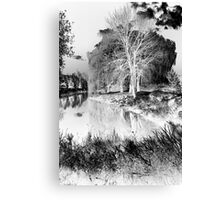 Reflection in Pond - Inverted - Kanata Ontario Canvas Print