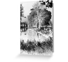 Reflection in Pond - Inverted - Kanata Ontario Greeting Card