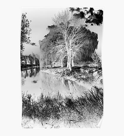 Reflection in Pond - Inverted - Kanata Ontario Poster
