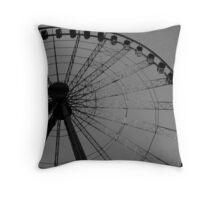 Old-Style Modern Wheel Throw Pillow