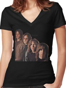 Iggy Pop The Stooges T-Shirt Women's Fitted V-Neck T-Shirt