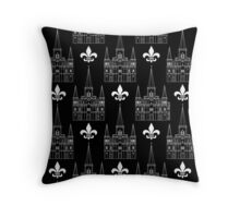 St. Louis Cathedral Pattern (White) Throw Pillow