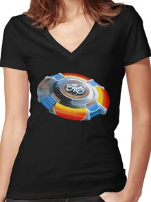 ELO Ship - Electric Light Orchestra Women's Fitted V-Neck T-Shirt