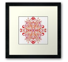 Chinese Flower Framed Print