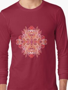 Chinese Flower Long Sleeve T-Shirt
