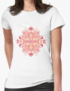 Chinese Flower Womens Fitted T-Shirt