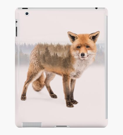Fox Double Exposure iPad Case/Skin