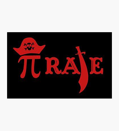 Pi Day Pirate Photographic Print