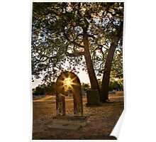 Glory Lights the Headstone Poster