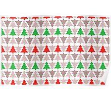 Traditional Christmas Trees Poster