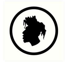 Black Head Logo Art Print