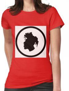 Black Head Logo Womens Fitted T-Shirt