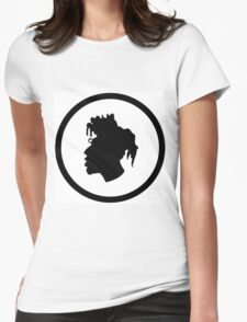 Black Head Logo Womens Fitted T-Shirt