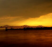 Sunset Over The Miss Lou Bridge Part 2 by MKBrock