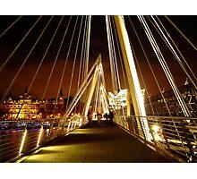 Golden Jubilee Bridge, London Photographic Print