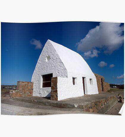 La Maison Blanc, St Ouen's Beach, Jersey, Channel Islands, United Kingdom Poster