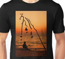 Chryssi island after sunset Unisex T-Shirt