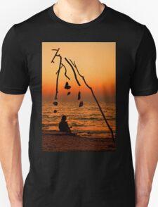 Chryssi island after sunset T-Shirt