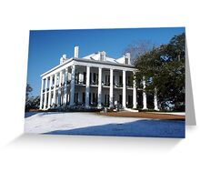 Dunleith Plantation- Snowstorm December 2009 Greeting Card