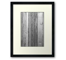 Aged Wood in Black and White Framed Print