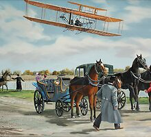 Wilbur Wright in France by Kenneth Young