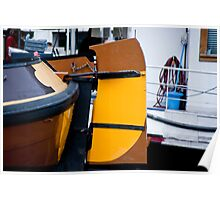 Yellow Houseboat Rudder Poster