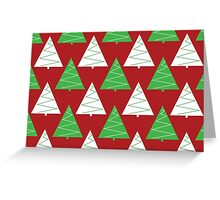 Red & Green Christmas Trees Greeting Card
