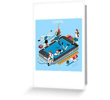 School Devices Smartphone Greeting Card