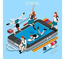 School Devices Smartphone Photographic Print