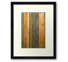 Green Wood Framed Print