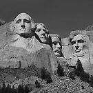 Mount Rushmore in B&W by Frank Romeo